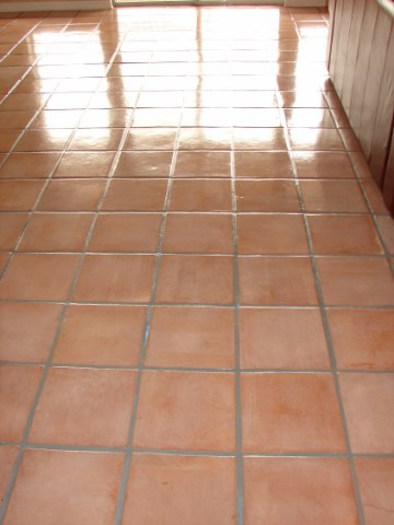 how to clean saltillo tile grout lines